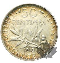 FRANCE-1913-50 centimes SEMEUSE-SUP