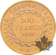 FRANCE-1908A-100 Francs-III République-PCGS MS62