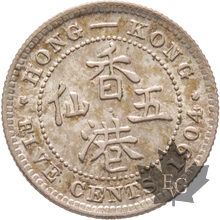 HONG KONG-1904-5 CENTS-SUP