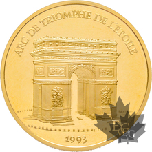 FRANCE-1993-500 FRANCS-70 ECU-Arc de Triomphe-PROOF