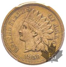 USA-1859-1 CENT-Indian Head-PCGS AU55