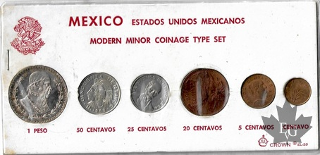 Mexique-1964-Modern Minor Coinage Type Set-FDC