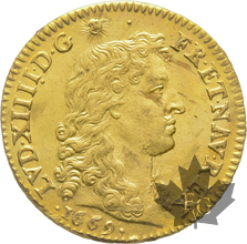 FRANCE-1669A-LOUIS D'OR-Louis XIV-Superbe
