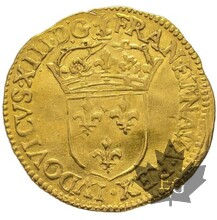 FRANCE-1628 B-Écu d'or, Rouen-Louis XIII -TTB