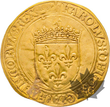 FRANCE-1494-Ecu d'or au soleil-Charles VIII-Bordeaux-TB+