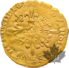 FRANCE-Écu d'or 5ème type-François I 1515-1547-flan court-TB