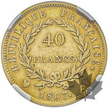 FRANCE-1807U-40 FRANCS-Département de l'Éridan-NGC VF35