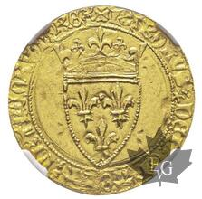 FRANCE-1388-Charles VI 1380-1422-Écu d'or à la couronne-NGC MS62