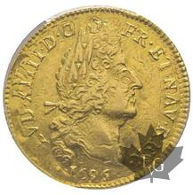 FRANCE-1695 D-Louis d'or aux 4 L-PCGS AU53