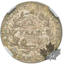 FRANCE-AN 13M-FRANC-Premier Empire 1804-1814-NGC AU50