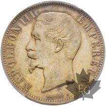 FRANCE-1856 A-5 FRANCS-Paris-Second Empire-PCGS AU DETAILS