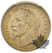 FRANCE-1867 A-1 FRANC-Second Empire-PCGS MS65
