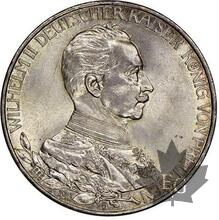 ALLEMAGNE-1913A-3 Mark, Berlin-NGC MS64