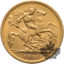 AUSTRALIE-1915 S-HALF SOVEREIGN-Georges V-SUP FDC