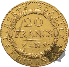 ITALIE-RÉPUBLIQUE SUBALPINE-20 francs-MARENGO AN 9 SUP