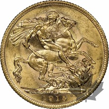 AUSTRALIE-1915 M-SOVEREIGN-Georges V-NGC MS62