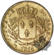 FRANCE-1814K-20 FRANCS Restauration-prTTB
