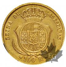ESPAGNE-1859-100 REALES-SUP