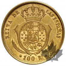 ESPAGNE-1860-100 REALES-SUP