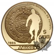 MEXIQUE-1986-500 PESOS-PROOF