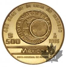 MEXIQUE-1985-500 PESOS-PROOF