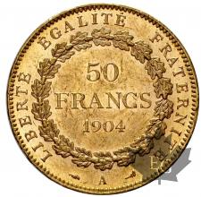 FRANCE-1904A-50 FRANCS- SUP-FDC
