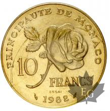 MONACO-1982-10 FRANCS GRACE ESSAI OR