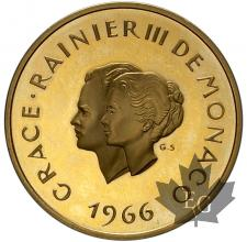 MONACO-1966-200 FRANCS MARIAGE OR-PROOF-FLAN BRUNI