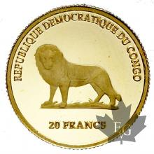 CONGO-2000-20 FRANCS-PROOF