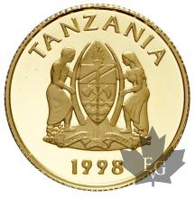 TANZANIA-1998-1000 SHILLINGS-HISTORY OF GOLD-PROOF