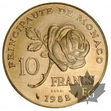 MONACO-1982-10 FRANCS Grace Kelly - ESSAI