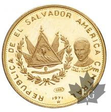 EL SALVADOR-1971-25 COLONES-PROOF