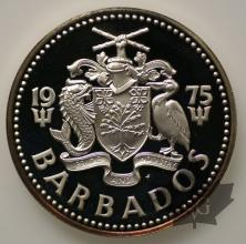 BARBADOS-1975-10 DOLLARS-PROOF
