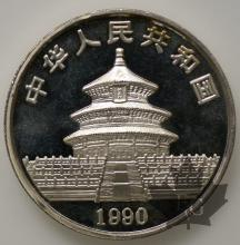 CHINE-1990-10 YUAN-PROOF SILVER