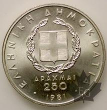GRECE-1981-250 DRACME-PROOF