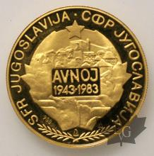 YOUGOSLAVIE-1983-MEDAILLE EN OR-PROOF