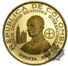 COLOMBIE-1968-100 PESOS-PROOF