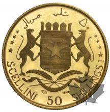 SOMALIE-1965-50 SHILLINGS-PROOF