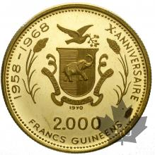 GUINEE-1970-2000 FRANCS-PROOF
