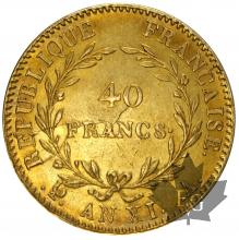 FRANCE-1802-AN XIA-40 FRANCS-SUP