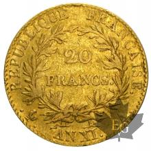 FRANCE-1802-AN XIA-20 FRANCS