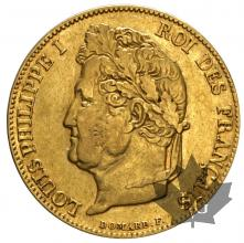 FRANCE-1834A-20 FRANCS-LOUIS PHILIPPE-TTB