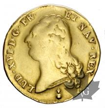 FRANCE-1786AA-DOUBLE LOUIS-LOUIS XVI-TB