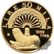 ITALIE-1999-50.000 LIRE OR-PROOF