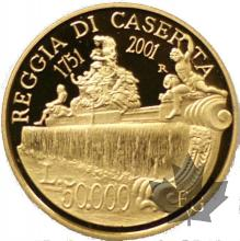 ITALIE-2001-50.000 LIRE OR-PROOF