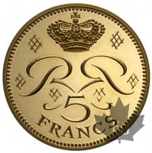 MONACO-1971-5 FRANCS PIEFORT OR