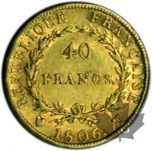 FRANCE-1806U-40 FRANCS or-BB