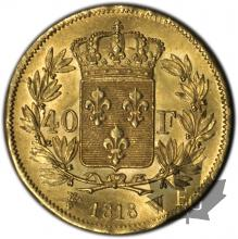 FRANCE-1818W-40 FRANCS or-SUP