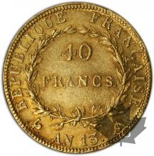 FRANCE-1804-AN 13A-40 FRANCS-BB