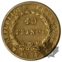 FRANCE-1805-AN 14U-40 FRANCS or